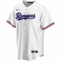 Men's Texas Rangers Nike White Home 2020 Replica Custom Jersey