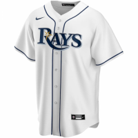 Men's Tampa Bay Rays Nike White 2020 World Series Bound Custom Replica Jersey