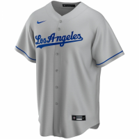 Men's Los Angeles Dodgers Nike Gray Road 2020 Replica Custom Jersey