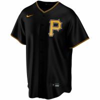 Men's Pittsburgh Pirates Nike Black Alternate 2020 Replica Custom Jersey