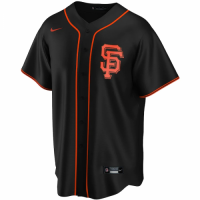 Men's San Francisco Giants Nike Black Alternate 2020 Replica Custom Jersey