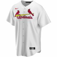 Men's St. Louis Cardinals Nike White Home 2020 Replica Custom Jersey