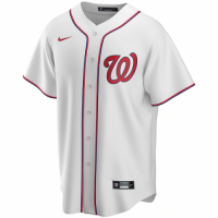 Men's Washington Nationals Nike White Home 2020 Replica Custom Jersey