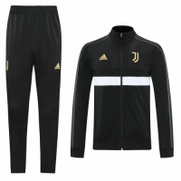 20/21 Juventus Black High Neck Training Kit(Jacket+Trouser)