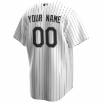 Men's Chicago White Sox Nike White Black Home 2020 Replica Custom Jersey