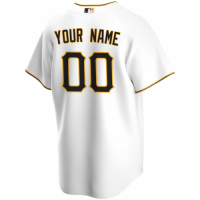 Men's Pittsburgh Pirates Nike White Home 2020 Replica Custom Jersey