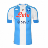 20/21 Napoli Fourth Away Blue&White Soccer Jerseys Shirt
