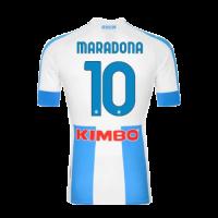 20/21 Napoli Fourth Away #10 MARADONA Blue&White Soccer Jerseys Shirt(Player Version)
