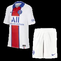 20/21 PSG Away White&Red Soccer Jerseys Kit(Shirt+Short)