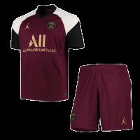 20/21 PSG Third Away Dark Red Soccer Jerseys Kit(Shirt+Short)