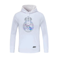 20/21 Real Madrid White Hoody Sweater