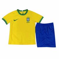 2021 Brazil Home Yellow Children's Jerseys Kit(Shirt+Short)