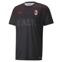 AC Milan X BALR Soccer Jersey Signature Black Replica