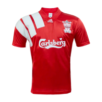 92/93 Liverpool Home Red Centenary Retro Jerseys Shirt