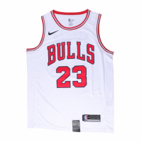 Men's Chicago Bulls Michael Jordan No.23 White Replica Swingman Jersey - Association Edition
