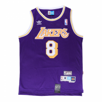 Men's Los Angeles Lakers Kobe Bryant No.8 Purple Jersey - Retro Edition