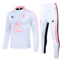 Juventus Human Race Pink&White Zipper Sweat Shirt Kit(Top+Trouser)