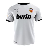 20/21 Valencia Home White Soccer Jerseys Shirt
