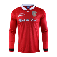 99-00 Manchester United Home Red Retro Long Sleeve Jerseys Shirt