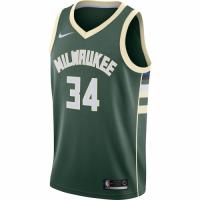 Men's Milwaukee Bucks Giannis Antetokounmpo N0.34 Green SwingmanJersey