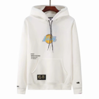 Men's Aape x LA Lakers White Hoodie
