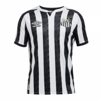 20/21 Santos Away Black&White Soccer Jerseys Shirt