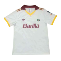 91/92 Roma Away White Soccer Retro Jerseys Shirt
