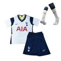 20/21 Tottenham Hotspur Home White Children's Jerseys Whole Kit(Shirt+Short+Socks)