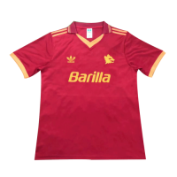 92/94 Roma Home Red Soccer Retro Jerseys Shirt