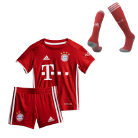 Bayern Munich Kids Soccer Jersey Home Whole Kit (Shirt+Short+Socks) 2020/21