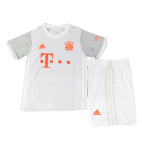 20/21 Bayern Munich Away Gray Children's Jerseys Kit(Shirt+Short)