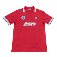 88/89  Napoli Third Away Red Retro Soccer Jerseys Shirt
