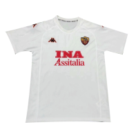 00/01 Roma Away White Soccer Retro Jerseys Shirt