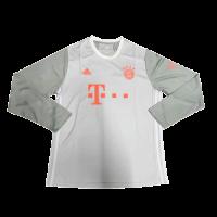 20/21 Bayern Munich Away Gray Long Sleeve Jerseys Shirt