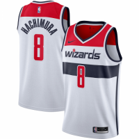 Men's Washington Wizards Rui Hachimura #8 Nike White 2020/21 Swingman Jersey - Association Edition