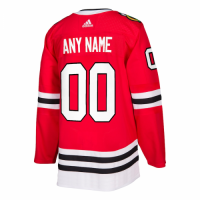 Men's Chicago Blackhawks adidas Red Authentic Custom Jersey