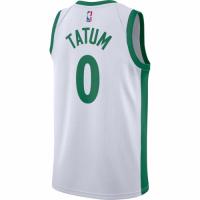 Men's Boston Celtics Jayson Tatum #0 Nike White 2020/21 Swingman Player Jersey – City Edition