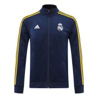 20/21 Real Madrid Navy&Yellow High Neck Collar Training Jacket