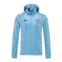 21/22 Manchester City Blue Windbreaker Hoodie Jacket