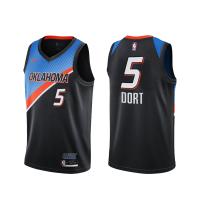 Men's Oklahoma City Thunder Luguentz Dort #5 Nike Black Swingman Jersey - City Edition