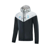21/22 Tottenham Hotspur Black&Grey Windbreaker Hoodie Jacket