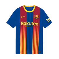 20/21 Barcelona Forth Away Light Red&Blue Soccer Jerseys Shirt