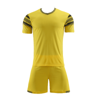 Style Customize Team Yellow Soccer Jerseys Kit(Shirt+Short)
