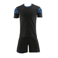 Style Customize Team Black Soccer Jerseys Kit(Shirt+Short)