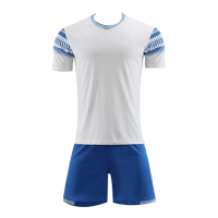 Style Customize Team White Soccer Jerseys Kit(Shirt+Short)