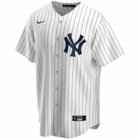 Men's New York Yankees Nike White Home 2020 Replica Custom Jersey
