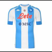 20/21 Napoli Fourth Away Blue&White Soccer Jerseys Shirt