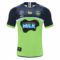 2021 Canberra Raiders Away Green&Navy Rugby Jersey Shirt