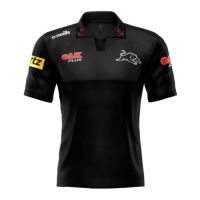 2021 Penrith Panthers Rugby Black Polo Shirt