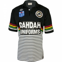 1991 Penrith Panthers Retro Rugby Black Jersey Shirt